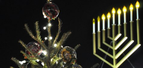 Channukah and Christmas Coincide