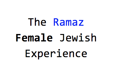 The Ramaz Female Jewish Experience