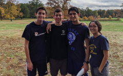 Students at a cross-country race in October.