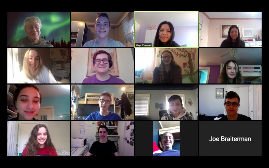 The+Mock+Trial+Team+meets+via+Zoom