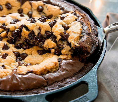 Quarantine Recipe: Homemade Brownie With Chocolate Chip Cookie Center