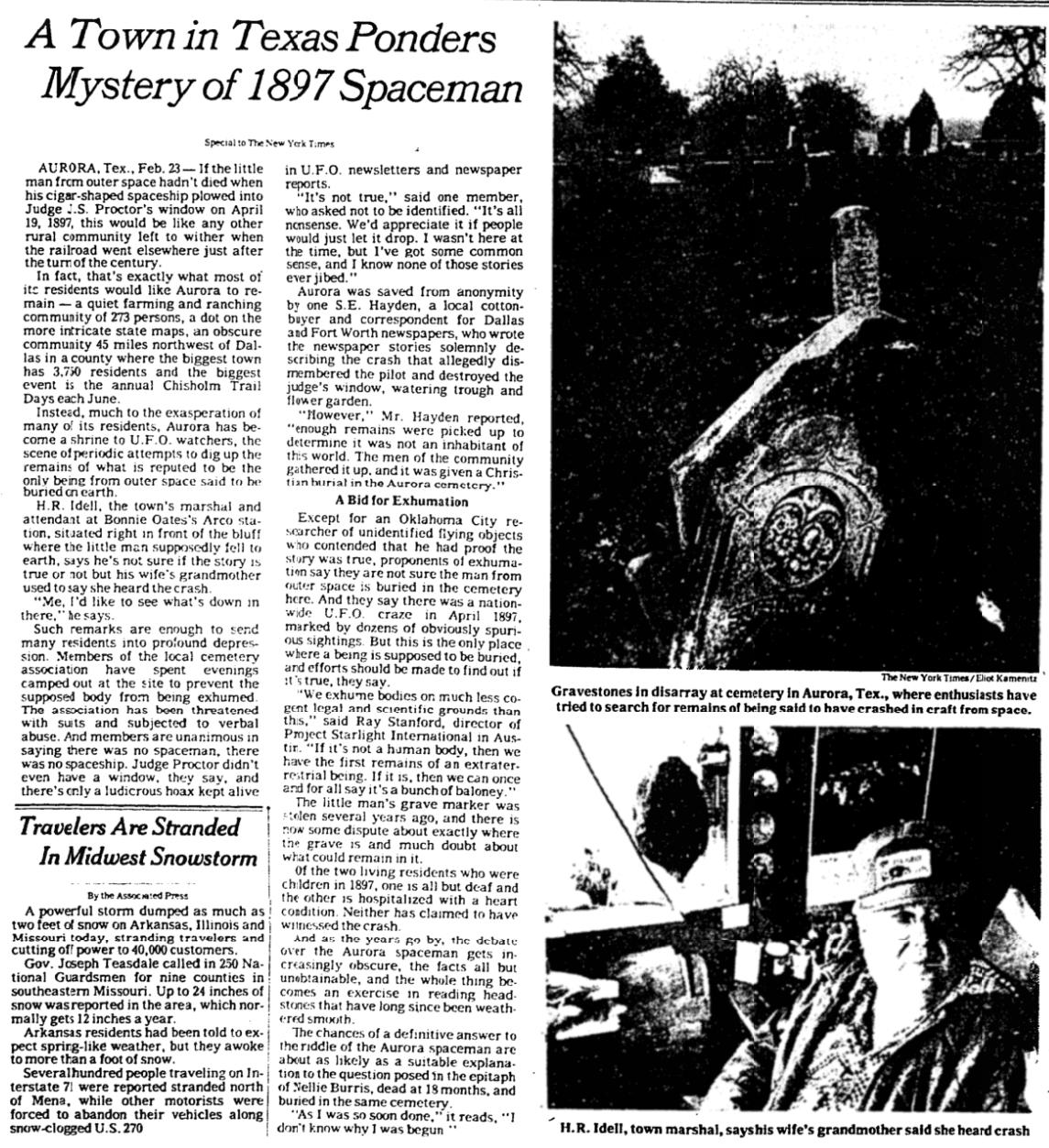 Mr. Applebome's 1979 article, as described above.