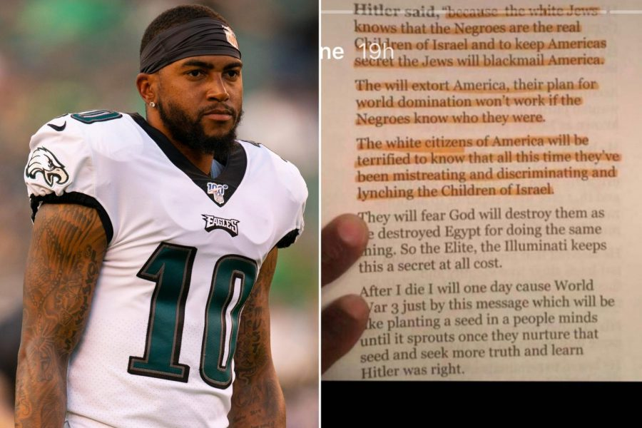 Philadelphia Eagles' player DeSean Jackson's anti-Semitic Instagram post.