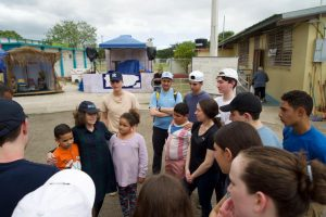 Ms. Benel and her students in Peurto Rico on a chesed mission in 2019.