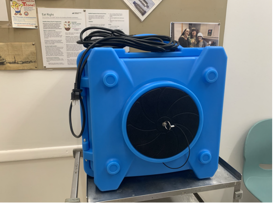 HEPA air scrubbers are used if a student in the building has Covid symptoms.