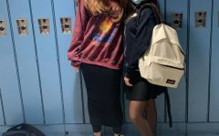 Jordana Stonehill'24 and Noya Berrebi '24 enjoying their lockers. (Photos courtesy of Noyah Misaghi '24)